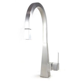 Imperial Style Solid Stainless Steel Lead-free Single-handle Pull Out Sprayer Kitchen Mixer Faucet