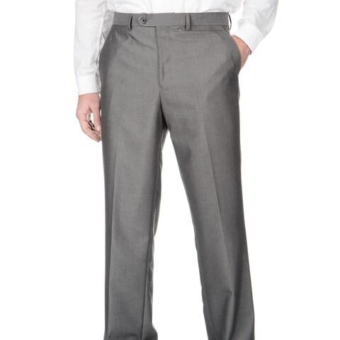 Adolfo Men's Slim Fit Silver Sharkskin Pant Separates