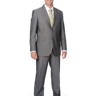Adolfo Slim Silver Sharkskin Suit Separate Jacket