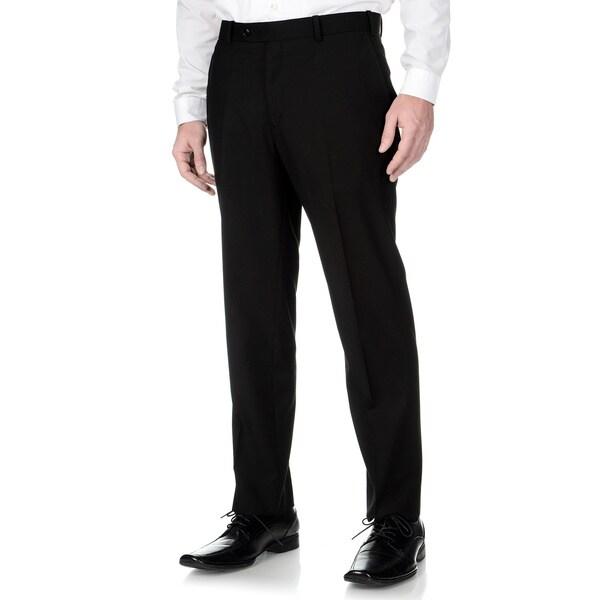 Adolfo Men's Slim Fit Black Textured Pant Separates