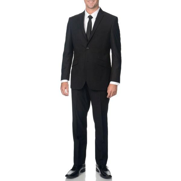 Adolfo Slim Textured Black Suit Separate Jacket