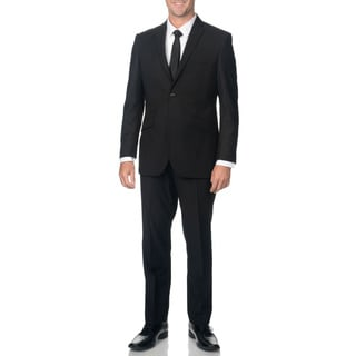 Adolfo Slim Textured Black Suit Separate Jacket
