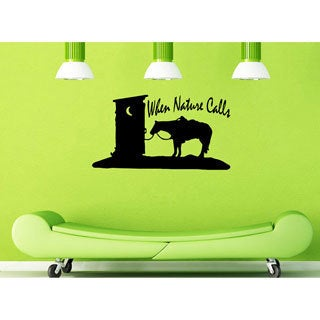 'When Nature Calls' Outhouse & Horse Vinyl Wall Decal