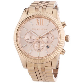 Michael Kors MK8319 'Lexington' Rosegold Chronograph Watch