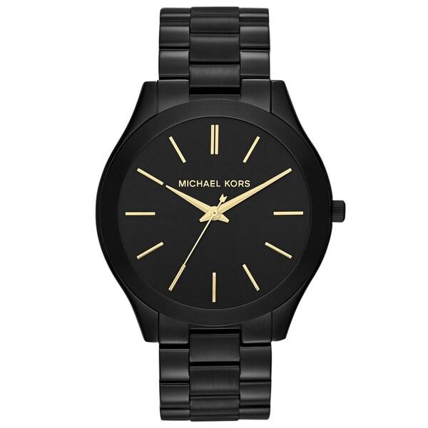 Michael Kors Women's MK3221 Slim Runway Watch - black