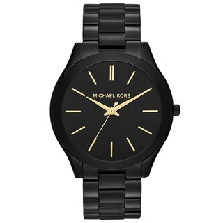 Michael Kors Women's MK3221 Slim Runway Watch - black