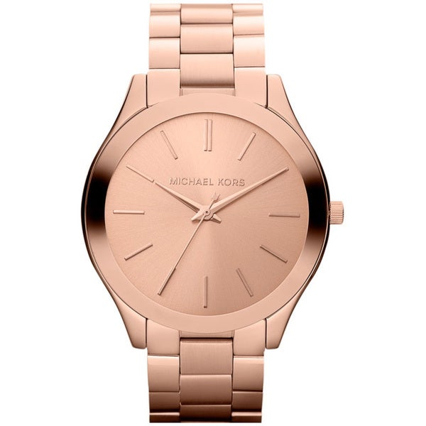 2d4cd3ecfc43 Shop Michael Kors Women s MK3197  Slim Runway  Rose Goldtone Watch ...