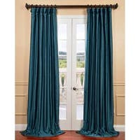 Exclusive Fabrics Fiji Yarn-dyed Faux Dupioni Silk Curtain Panel