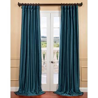 Exclusive Fabrics Fiji Yarn-dyed Faux Dupioni Silk Curtain Panel