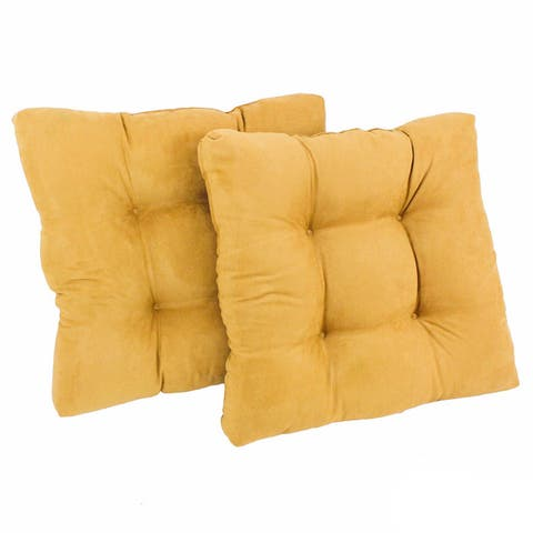 Blazing Needles 19-inch Square Microsuede Chair Cushion (Set of 2)