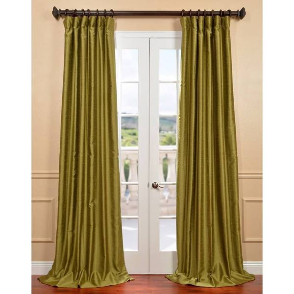 Exclusive Fabrics Chartreuse Yarn Dyed Faux Dupioni Silk Curtain ...