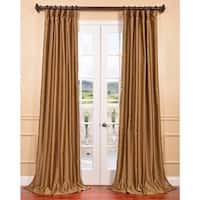 Exclusive Fabrics Empire Gold Yarn Dyed Faux Dupioni Silk Curtain Panel
