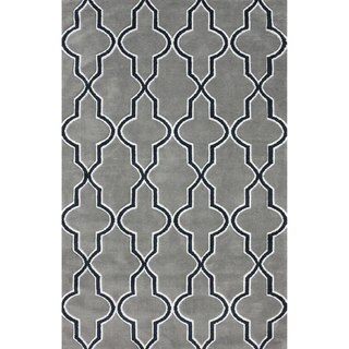nuLOOM Modern Moroccan Trellis Lattice Gray Area Rug (5' x 8')