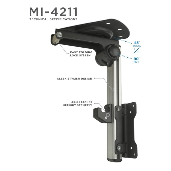 Mount It! TV Ceiling Mount Folding, Retractable Under Cabinet TV Bracket  Folding, Retractable, Swivel For 13 To 27 Inch TV   Free Shipping On Orders  Over ...