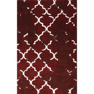 nuLOOM Handmade Moroccan Lattice Trellis Vintage style Rug (7'6 x 9'6)