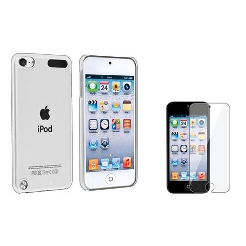 Insten Clear Crystal iPod Case Cover/ Clear Screen Protector for Apple iPod Touch 5th Gen/ 6th Gen/ 7th Gen