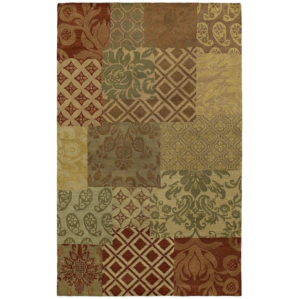 St. Joseph' Multi Prints Hand-tufted Wool Rug - 5' x 7'9