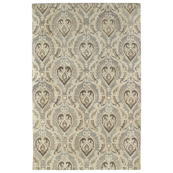 Damask Taupe Rug: Shop Hand-tufted St. Joseph Taupe Damask Wool Rug