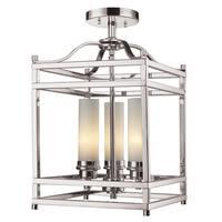 3-light Semi Flush Mount Light