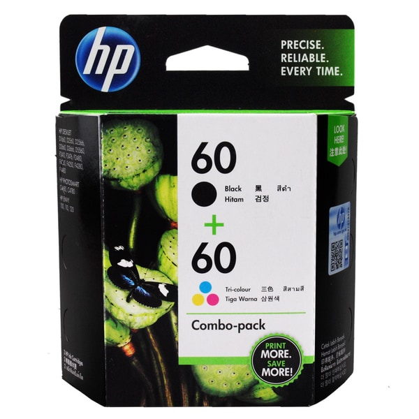 HP 60 Black and Color Ink Cartridge Set (Pack of 2)