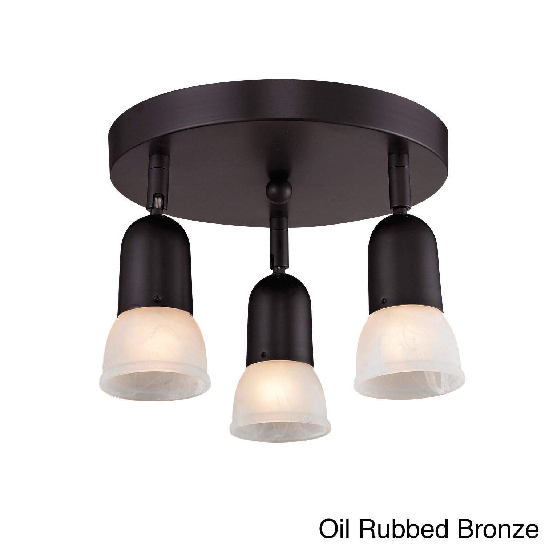 Z-LITE Directional 3-light Semi Flush Mount Light (Bronze...