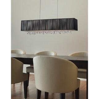 Z-Lite 5-light Island/ Billiard Fixture with Dangling Crystals