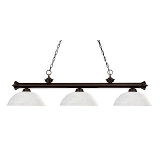 Z-Lite 3-light Linen Shade Billiard Fixture