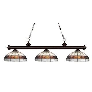 Z-Lite 3-light Tiffany-style Billiard Fixture