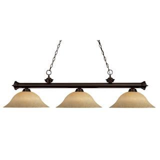 Link to Avery Home Lighting 3-light Billiard Fixture - Bronze Similar Items in Chandeliers