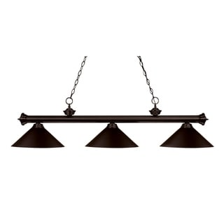 Link to Avery Home Lighting 3-light Black  Billiard Fixture Similar Items in Chandeliers