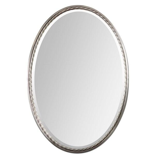 brushed nickel mirror. Uttermost Casalina Brushed Nickel Mirror -