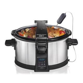 Hamilton Beach Stainless Steel 6 Quart Set N Forget Programmable Slow Cooker