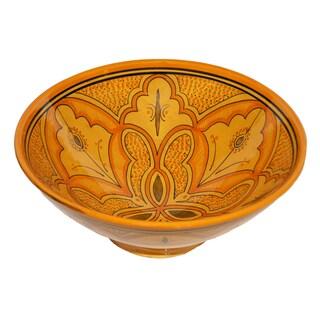 Handmade Moroccan Lwimina Ceramic Bowl (Morocco)