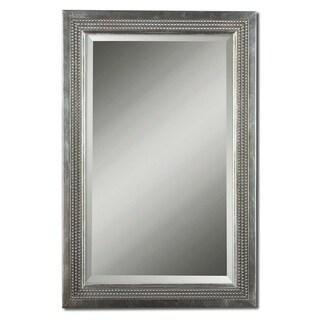 Uttermost Triple-beaded Silver Leaf Vanity Mirror