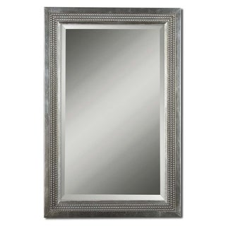 Uttermost Triple Beaded Silver Leaf Vanity Mirror