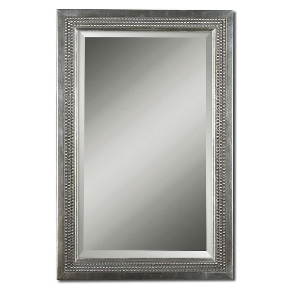 Uttermost Triple-beaded Silver Leaf Vanity Mirror - Free Shipping ...