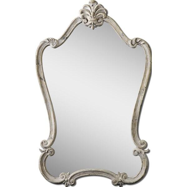 Uttermost Walton Hall White Arched Mirror