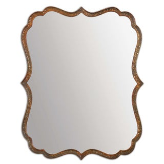 Uttermost Spadola 30-inch Oxidized Copper Mirror