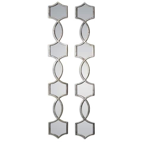 Uttermost Vizela Oxidized Silver Mirror (Set of 2) - 6.25x44.5x1
