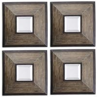 Uttermost Fendrel Aged Pecan Wood Mirrors (Set of 4)