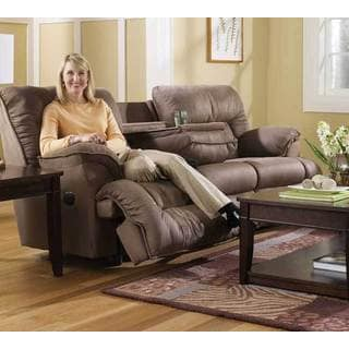 Fine Franklin Tristin Mink Microfiber Dual Reclining Sofa Overstock Com Shopping The Best Deals On Sofas Couches Cjindustries Chair Design For Home Cjindustriesco