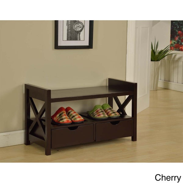 Overstock Foyer Bench : Entryway storage bench free shipping today overstock
