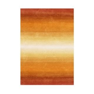 Alliyah Hand Made Orange New Zeeland Blend Wool Rug 8x10