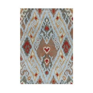 Alliyah Hand-made Cloud Blue New Zealand Blend Wool Rug (8' x 10')