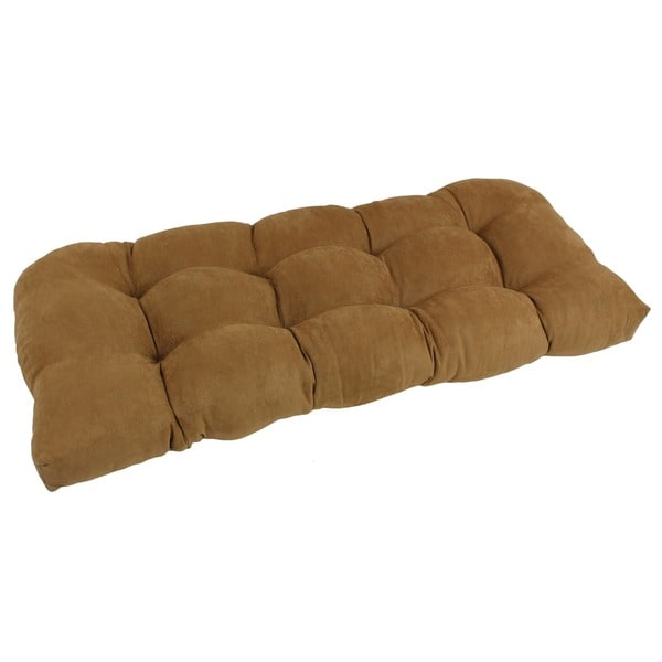 Blazing Needles Neutral U Shaped Tufted Microsuede Settee Bench Cushion Free Shipping Today