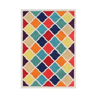 Hand-made Alliyah Multi-Color New Zealand Blend Wool Rug (8'x10')