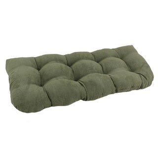 Blazing Needles Earthtone U-Shaped Tufted Microsuede Settee/Bench Cushion