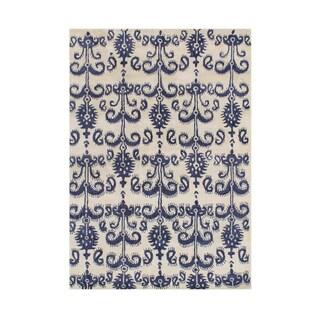 Alliyah Handmade Cream Wool Rug (5' x 8')