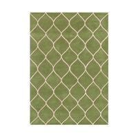 Alliyah Handmade Green New Zealand Blend Wool Rug - 8' x 10'
