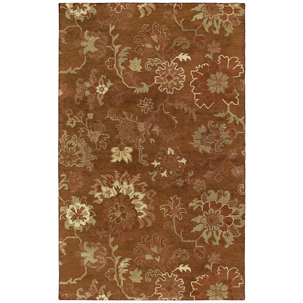 St. Joseph Copper Peshawar Hand-tufted Wool Rug - 9'6 x 13'